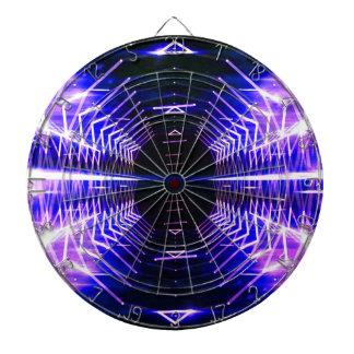 Modern Graphic Cool Glowing Vortex, Ultra Violet Dart Boards