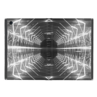 Modern Graphic Glowing Vortex, Black & White - Case For iPad Mini