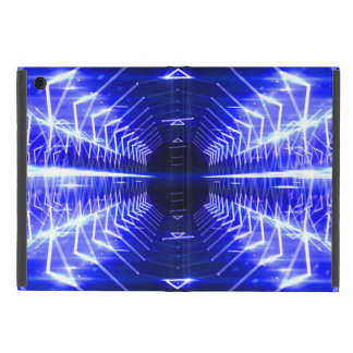 Modern Graphic Glowing Vortex, Blue - Cover For iPad Mini