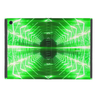 Modern Graphic Glowing Vortex, Green - Case For iPad Mini
