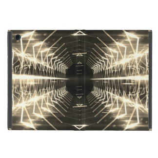 Modern Graphic Glowing Vortex, Sepia - iPad Mini Case