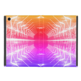 Modern Graphic Glowing Vortex, Spectrum - iPad Mini Cover