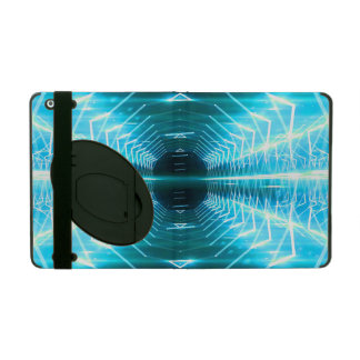 Modern Graphic Glowing Vortex, Teal - iPad Cover