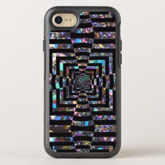 Modern Graphic Iridescent Optical Illusion Vortex, OtterBox Symmetry iPhone 7 Case