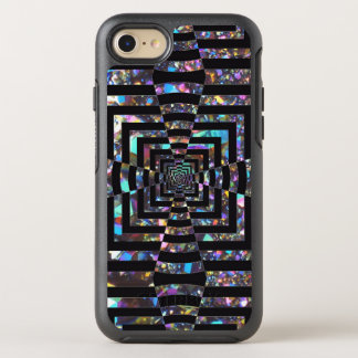 Modern Graphic Iridescent Optical Illusion Vortex, OtterBox Symmetry iPhone 8/7 Case