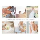 Modern Gratitude   Wedding Photo Collage Thank You Postcard