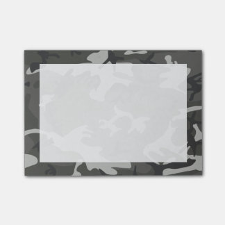 Modern Gray Abstract Camo Camouflage Post-it Notes