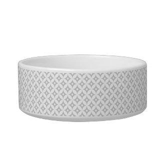 Modern Gray and White Circle Polka Dots Pattern Bowl