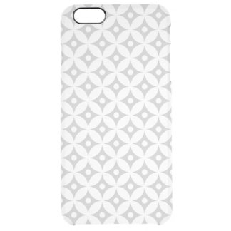 Modern Gray and White Circle Polka Dots Pattern Clear iPhone 6 Plus Case
