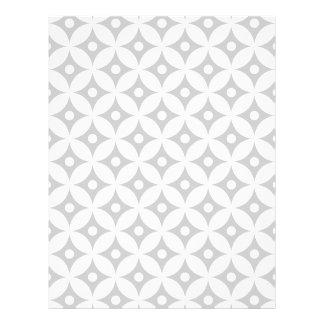 Modern Gray and White Circle Polka Dots Pattern Letterhead