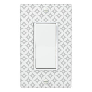 Modern Gray and White Circle Polka Dots Pattern Light Switch Cover