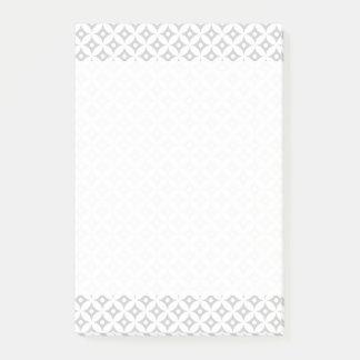 Modern Gray and White Circle Polka Dots Pattern Post-it Notes