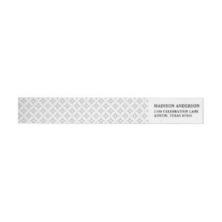 Modern Gray and White Circle Polka Dots Pattern Wrap Around Label