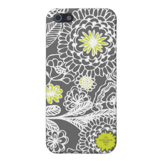 Modern Gray and White Floral Pop iPhone Case Case For iPhone 5/5S