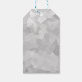 Modern - Gray and White Polygon Shape Abstract Gift Tags
