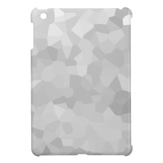 Modern - Gray and White Polygon Shape Abstract iPad Mini Cases