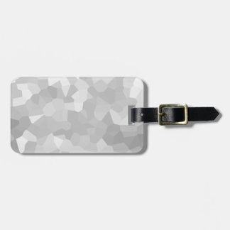 Modern - Gray and White Polygon Shape Abstract Luggage Tag