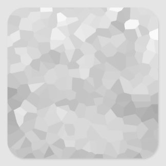 Modern - Gray and White Polygon Shape Abstract Square Sticker