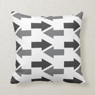 Modern Gray Black Arrows On White Throw Pillow
