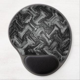 Modern Gray Black Mosaic Metal Floor Abstract Gel Mouse Pad