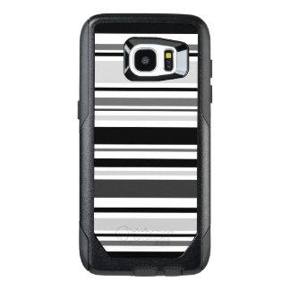 Modern Gray, Black, White Stripes