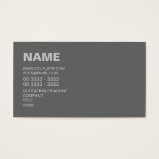 Modern Gray Business Card