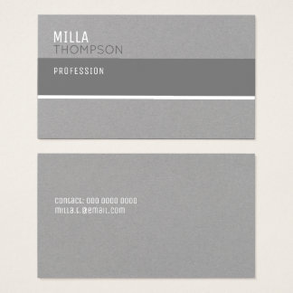 modern gray business card for any profession