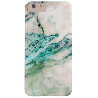 Modern Gray & Emerald Green Faux Marble Print Barely There iPhone 6 Plus Case