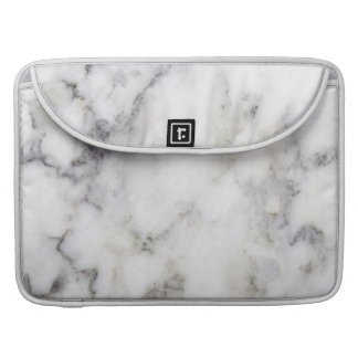 Modern Gray Faux Marble Stone Background Sleeve For MacBooks