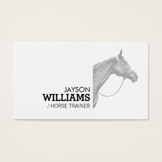 Modern Gray Horse Motif Business Card