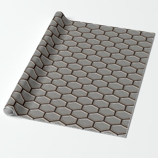 Modern Gray Sleek Hexagon Designer Original