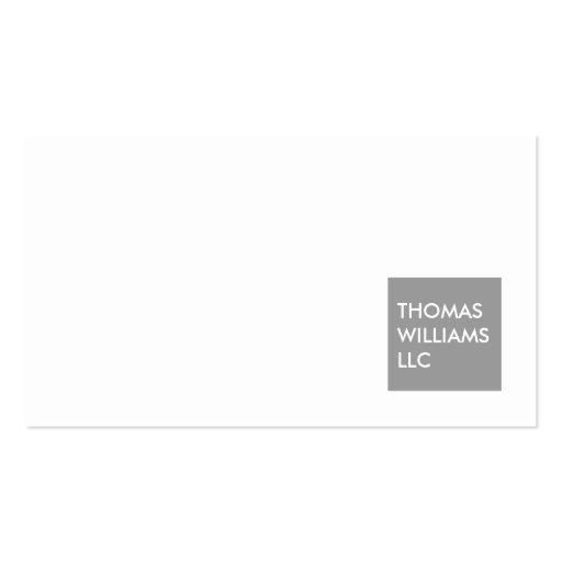 MODERN GRAY SQUARE Designer Business Card