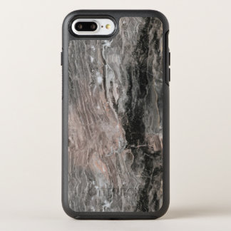 Modern Gray Tones And Black Marble Stone OtterBox Symmetry iPhone 7 Plus Case