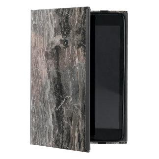 Modern Gray Tones Rough Marble Stone iPad Mini Cover