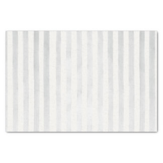 Modern Gray Watercolor Stripes Bohemian Wedding Tissue Paper