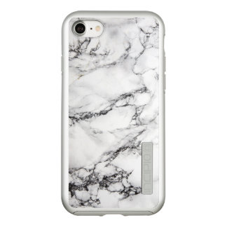 Modern Gray White And Black Marble Incipio DualPro Shine iPhone 8/7 Case