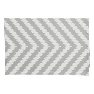 Modern Gray & White Zigzag Chevron Arrows Pillowcase