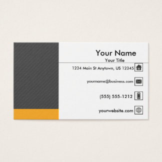 Modern Gray Yellow Professional Business Card