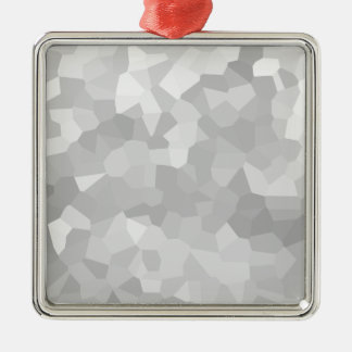 Modern Grayscale - Gray and White Polygon Shape Ab Metal Ornament