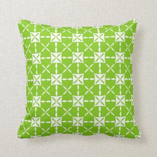 Modern Green Abstract Floral Pattern Pillow
