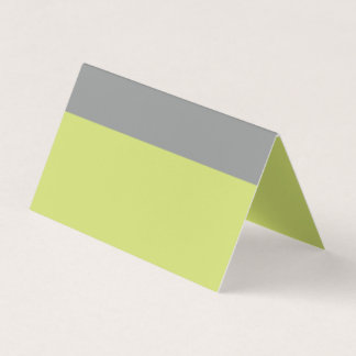 Modern Green and Grey Place Card