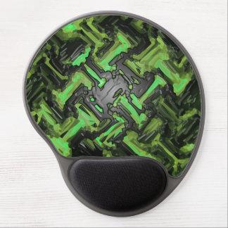 Modern Green Black Mosaic Metal Floor Abstract Gel Mouse Pad