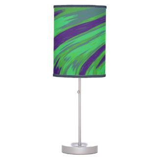 Modern Green Blue Color Swish Table Lamp