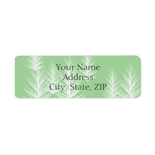 Modern Green Forest Anniversary Return Address