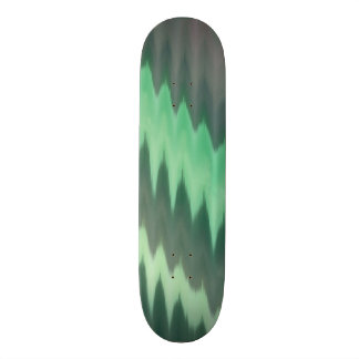 Modern Green Grey Turquoise Ikat Chevron Zigzag Skateboard Deck