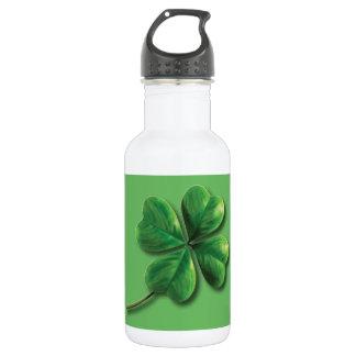 Modern Green Irish Shamrock 532 Ml Water Bottle