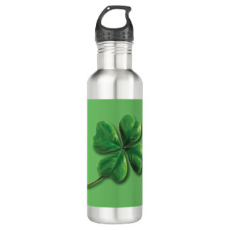 Modern Green Irish Shamrock 710 Ml Water Bottle