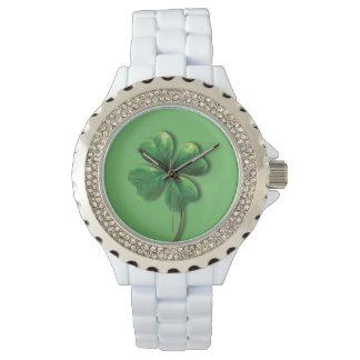 Modern Green Irish Shamrock Watch