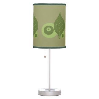 Modern Green Leaves and Pods Table Lamp