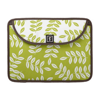 Modern Green Leaves Floral MacBook Pro Sleeve